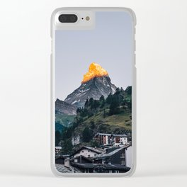 Beautiful Matterhorn in Sunrise Clear iPhone Case
