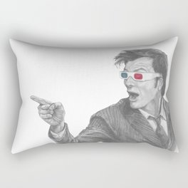 The Tenth Doctor Rectangular Pillow