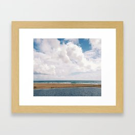 streaming to sea Framed Art Print