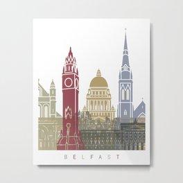 Belfast skyline poster Metal Print