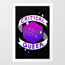 CRITICAL QUEER: Bi Art Print