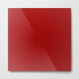 Holiday Red Poka Dot pattern Metal Print