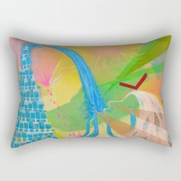 Abstract 4 Rectangular Pillow