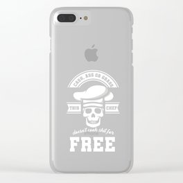 Cash Or Grass Chef Frying Food Cooking Baking Grilling Toasting Cook Gifts Clear iPhone Case