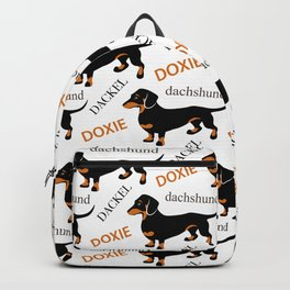Black Tan Smooth Dachshund Backpack