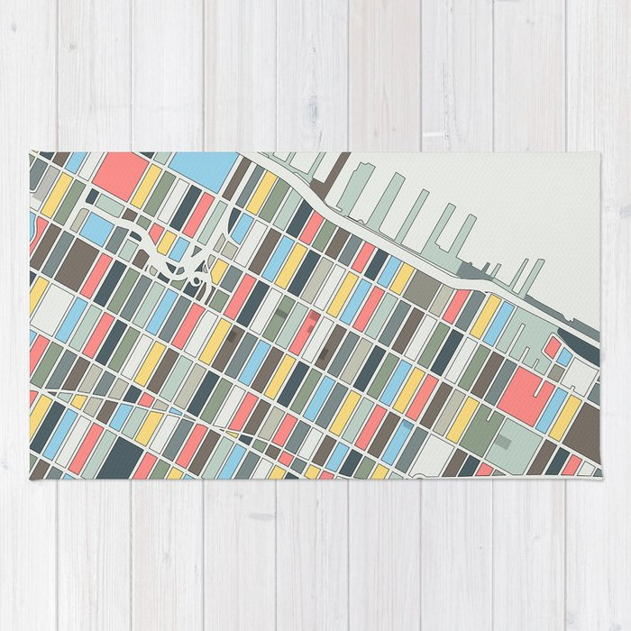 Hells Kitchen New York Map.Hell S Kitchen Map New York City Rug By Studiotesouro Society6