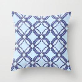 Sixtees purple blue Throw Pillow