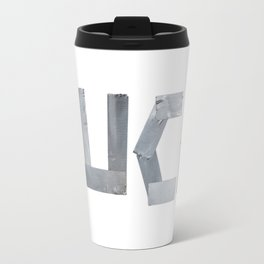 FUCK written with duct tape white background Travel Mug