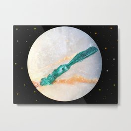 Mineral planet-5: malachite and calcite. Metal Print