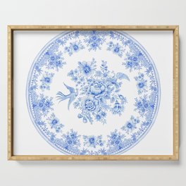 Blue asiatic pheasant Serving Tray