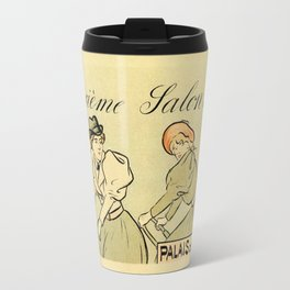1894 Paris Second Expo of the bicycle horizontal banner Travel Mug