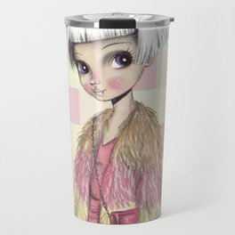 JAPANESSE DOLL ILLUSTRATION BY ALBERTO RODRÍGUEZ Travel Mug
