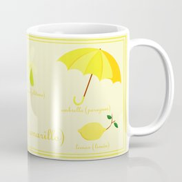 Colors: yellow (Los colores: amarillo) Coffee Mug