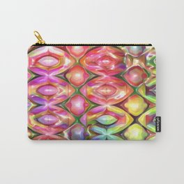 Rainbow Frost Geometric Carry-All Pouch