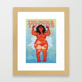 Thunderthighs Framed Art Print
