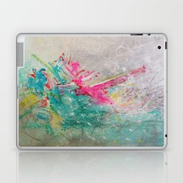 Sweet madness - Abstract mixed media composition Laptop & iPad Skin