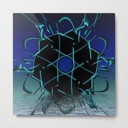 Black Geometry Metal Print