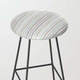 Watercolor Stripes Hues of Grey by Friztin Bar Stool
