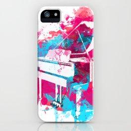 Paint Splatter Piano iPhone Case