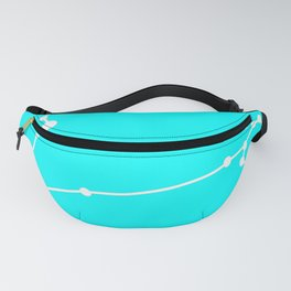 Pisces (White & Cyan) Fanny Pack