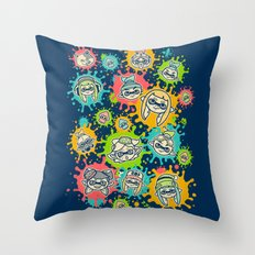 Splat Festival Throw Pillow