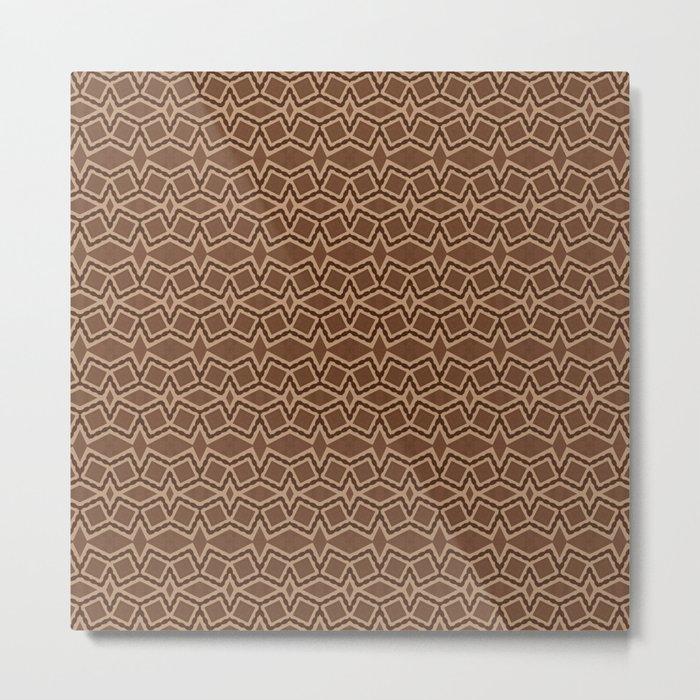 Brown Tilt-A-Block Metal Print