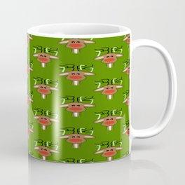 Christmas Reindeer Green Coffee Mug