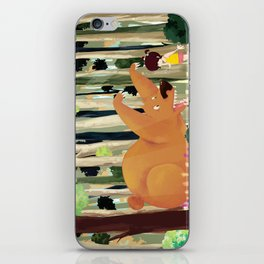 Meeting with Teddy Bear iPhone Skin
