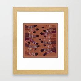 moving towards each other Framed Art Print