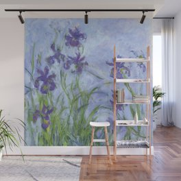 "Claude Monet ""Iris mauves"" Wall Mural"