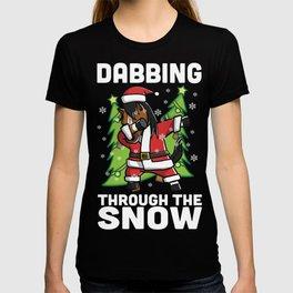 Horse Dabbing Through The Snow Christmas T-shirt