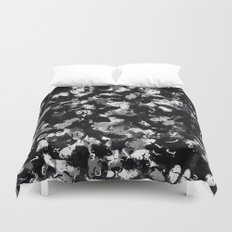 Shades of Gray and Black Oils #1979 Duvet Cover