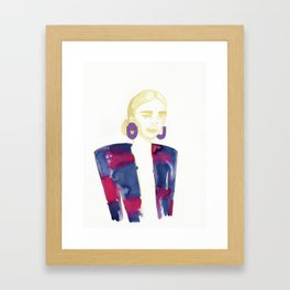 Meg's extravagant cardigan Framed Art Print