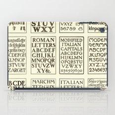 Typography iPad Case