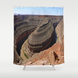 A Meander Of The Goosenecks Shower Curtain