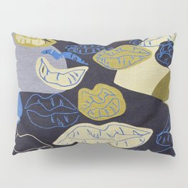 Woven Jacquard Lips Pattern Pillow Sham