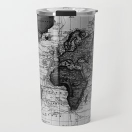 Vintage Map of The World (1833) White & Black Travel Mug
