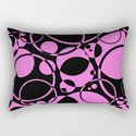 Black and pink bubbles pattern by printpix
