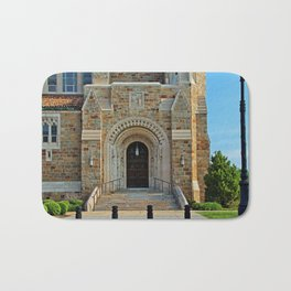 Old West End Our Lady Queen of the Most Holy Rosary Cathedral Door II- horizontal Bath Mat