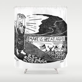 Fake God Shower Curtain