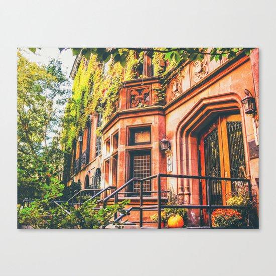 New York City Autumn Pumpkin Canvas Print