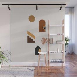 Hide and Seek Pug Abstract Wall Mural
