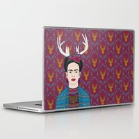 deer Laptop & iPad Skins featuring DEER FRIDA by Bianca Green