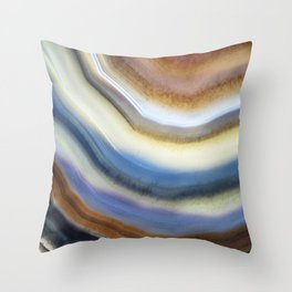 Colorful layered agate 2075 Throw Pillow