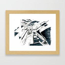Maltese Street Framed Art Print