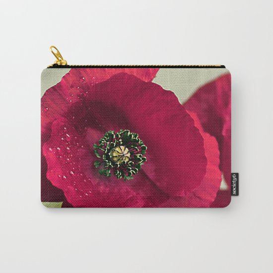 Poppies(velvet). Carry-All Pouch