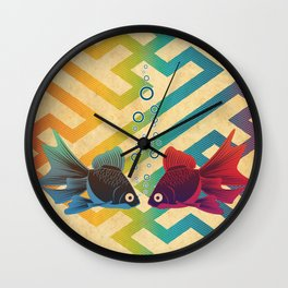 You & Me Both Wall Clock