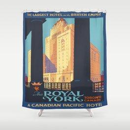 Vintage poster - Toronto Shower Curtain