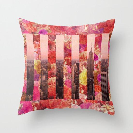 N/Y/C Throw Pillow