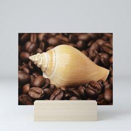Coffee bean snail Mini Art Print